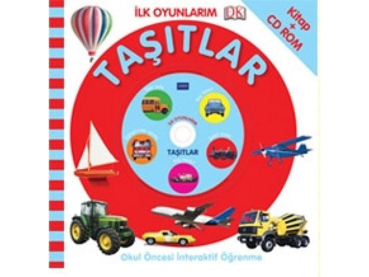 Pearson Yayıncılık - İlk Oyunlarım - Taşıtlar - Pearson - 2-6 yaş çocuk Kitabı - Bebek Dokun Öğren Serisi Afacan Kitap