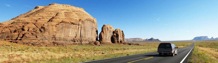 Tilbud på kør-selv-ferier gennem USA.
