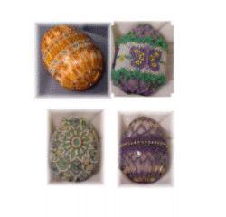 Beaded Marble Eggs Beading Pattern at Sova-Enterprises.com