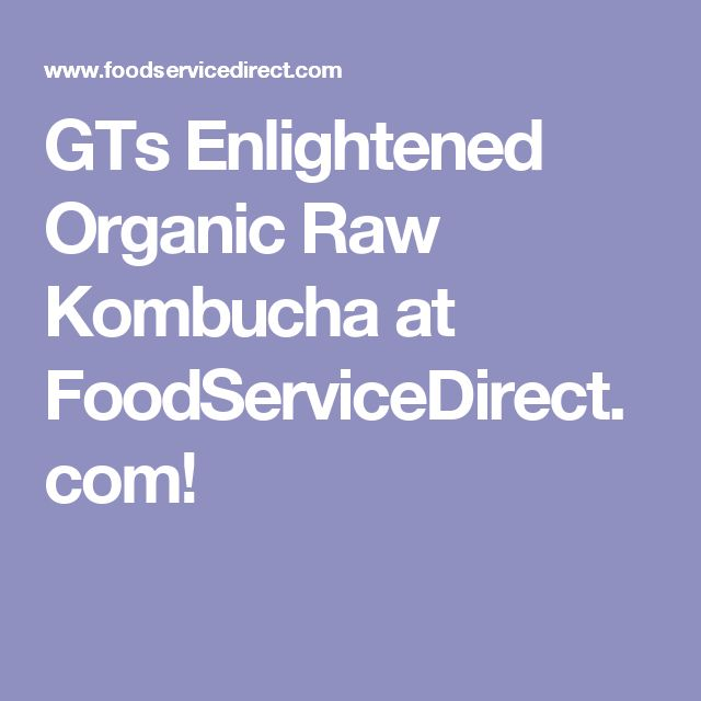 GTs Enlightened Organic Raw Kombucha at FoodServiceDirect.com!