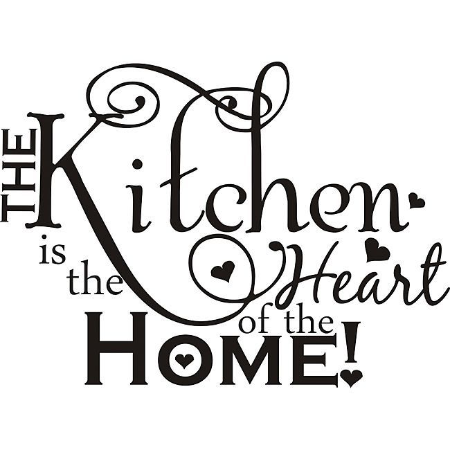 Your family spends hours gathered in the kitchen every week, and with this classic vinyl art, you can show them how you feel. The vinyl piece installs easily, and it adheres to different surfaces, including wood cabinets and tiled walls.
