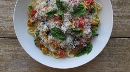 ... Eggplant and Tomato Pasta : Recipes : do it Delicious | Pasta