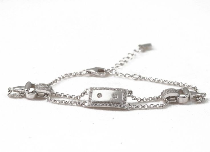 lovely cute bracelet, clear Cz