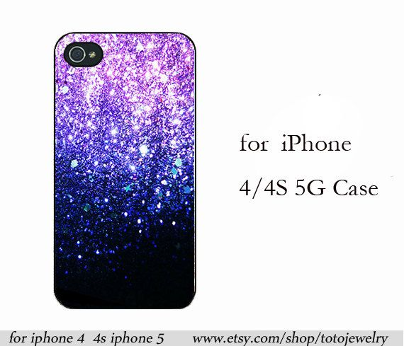 iPhone 4 Case,  iPhone5 Case,skin case for iphone 4s case,More Phone Covers,Hard Plastic - NOT REAL Glitter