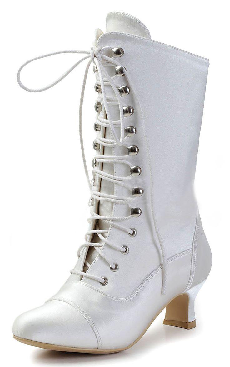 Low Kitten Heel Boots