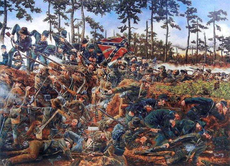 """Ángulo Muerto"" ,Cheatham's Hill, Kennesaw Mountain, GA, 27 de junio de 1864. Artista Rick Reeves. http://www.elgrancapitan.org/foro/viewtopic.php?f=21&t=11680&p=920131#p920043"