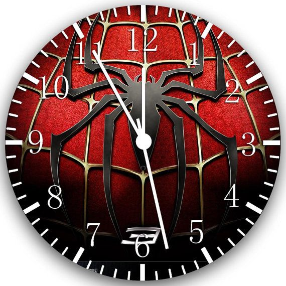 New Spiderman wall Clock 10 will be nice Gift and by Melissaclocks, $12.99