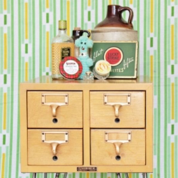 Diy Card Catalog End Table How To Convert A Vintage Find Into A Beautiful Side Table Without Wrecking It Storag Vintage Crafts Redo Furniture Diy Home Decor