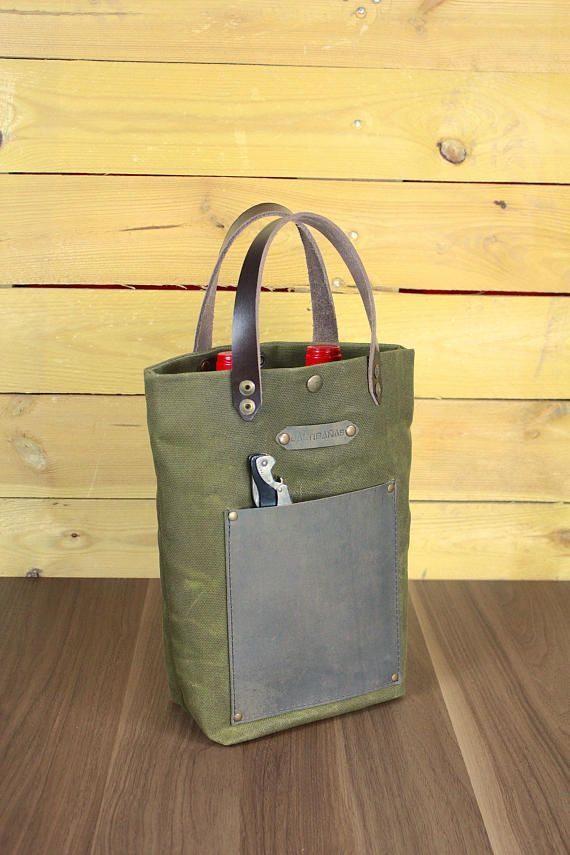 Your Place To Buy And Sell All Things Handmade Canvas Wine Tote Wine Tote Wine Bottle Bag