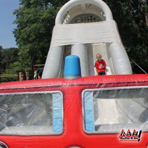 Firetruck Inflatable Slide Party Rentals Equipment Swimming Pool Hot Tub Fire Trucks