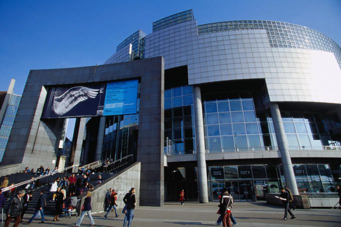 Opera Bastille - Another neat looking opera building.