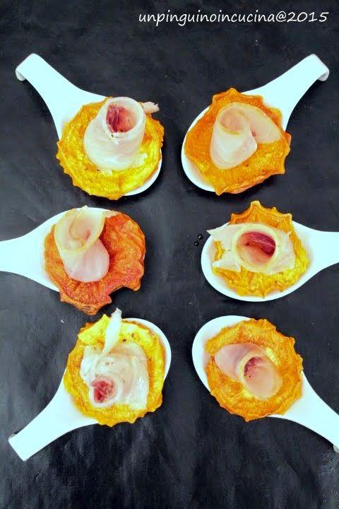 Roselline di pesce spada e caco con citronette alle clementine | Un Pinguino in cucina