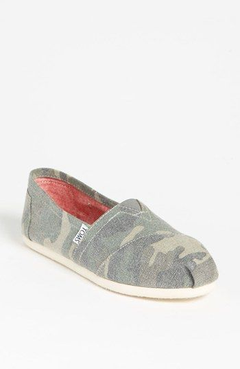 Im obsessed with all these camo this season. TOMS 'Classic - Camo' Canvas Slip-0n (Women) available at #Nordstrom