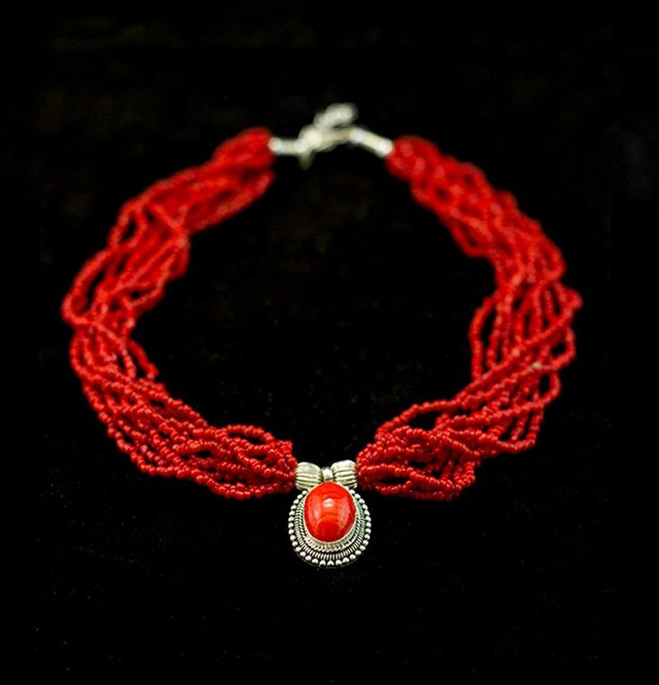 Red Pote Necklace