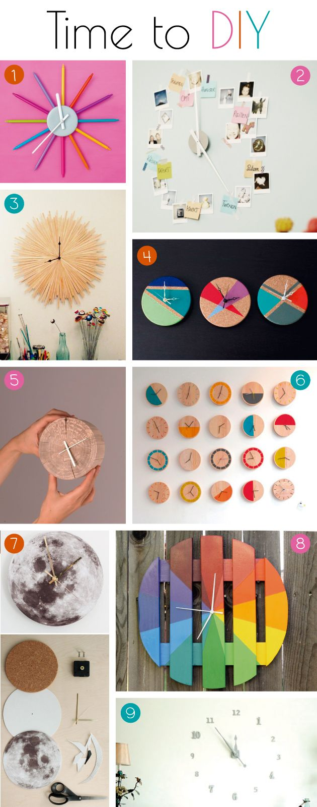 Make it yourself: // Relojes de pared