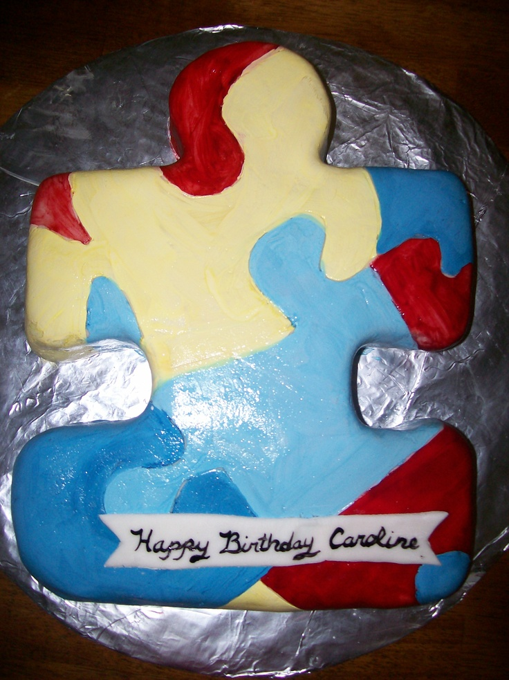 Cake Decorated By Girl With Autism : Autism Awareness Cake Its A Cake Thing Pinterest ...