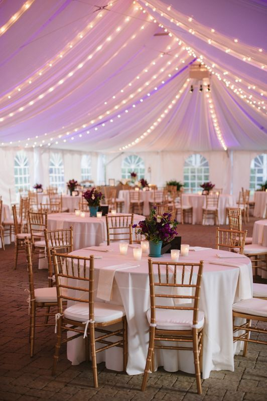 Reception in a tent. I've been to a reception like this it works really well!