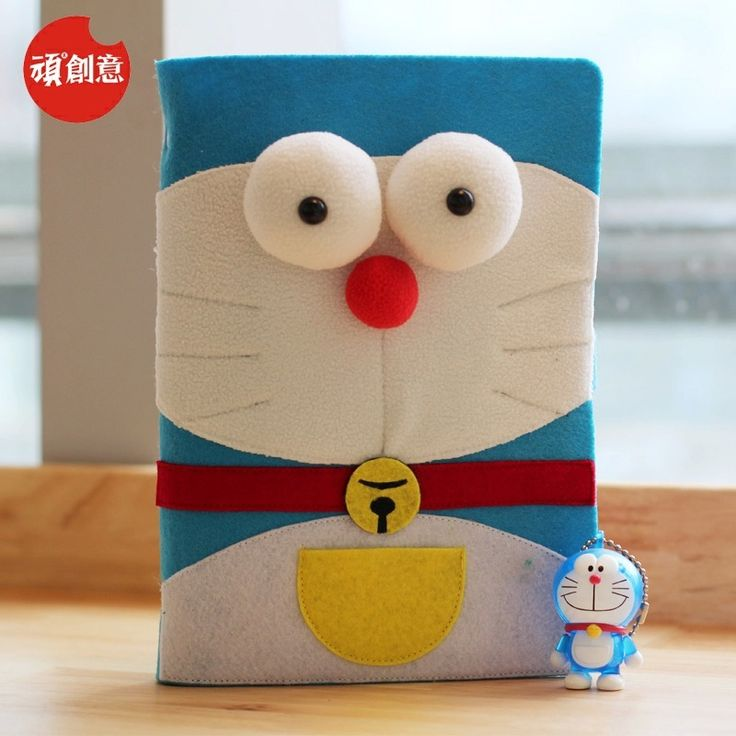 2015 Cute Cartoon Mechanical cat Loose-leaf notebook retro felt Notebook Diary Planner Notepad for Kids Gift Korean Stationery