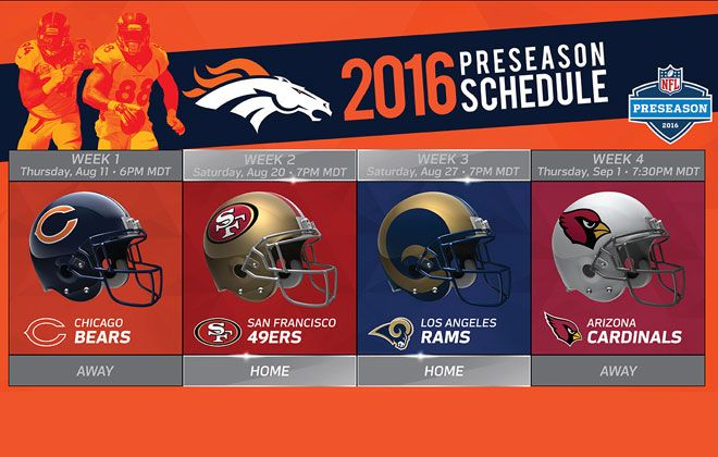 Denver Broncos | 2016 Schedule