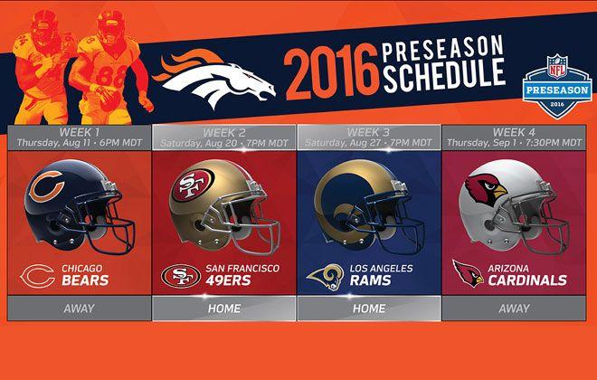 Denver Broncos | 2016 Schedule