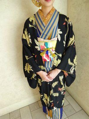 Striped vintage Kimono