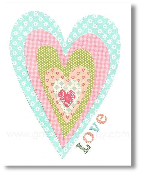Heart+Love+print++baby+nursery+decor++children+by+GalerieAnais,+$14.00