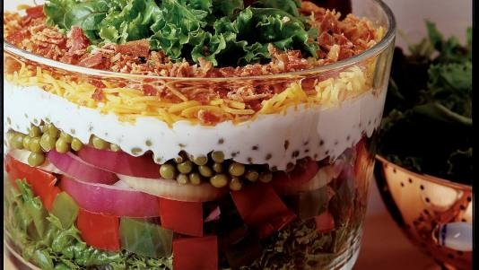7 Layer Salad http://edgecdn.americanprofile.com/30431-seven-layer_pea_salad_recipe__crop-landscape-534x0.jpg