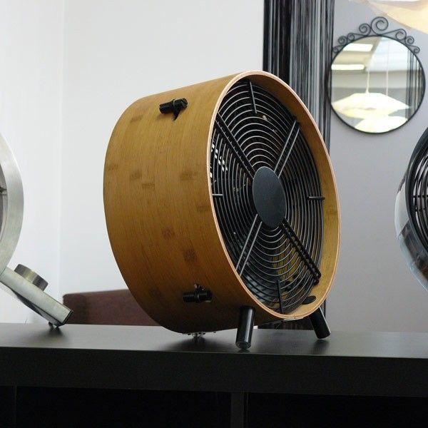 Otto bambou ventilateur design en bois verni