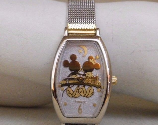 MICKEY AND MINNIE MESH BRACELET WATCH MICKEY'S WORLD TIMEX WATCH WORKING! NIB! #MickeysWorldTimexDisney