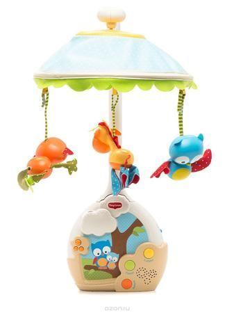 """Tiny Love Музыкальный мобиль Extra Волшебная ночь  — 5990р. ---- Мобиль Tiny Love """"Extra: Волшебная ночь"""" - оригинальная музыкальная игрушка, создающая атмосферу уюта и спокойствия в детской комнате с первых дней жизни малыша. Мобиль изготовлен из безопасных материалов ярких цветов. Пластиковое основание мобиля с музыкальной панелью легко крепится к кроватке с помощью большой фиксирующей пластиковой гайки. К нему присоединяется стойка, к которому крепится купол в виде плафона. К куполу…"""