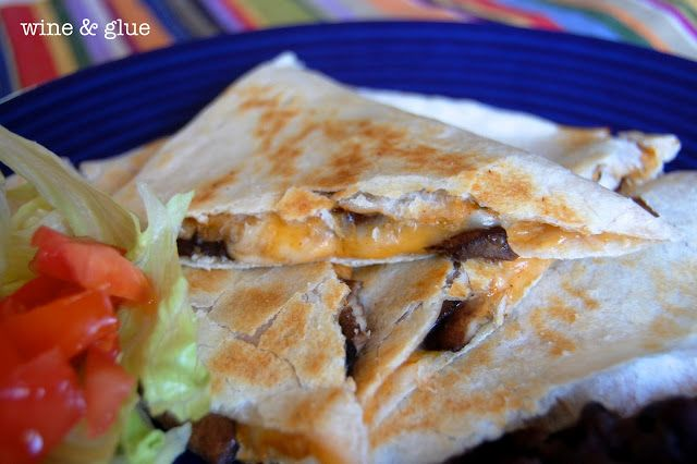 Taco Bell Quesadilla | A copycat recipe of one of your favorite take out meals! The spicy beans are amazing!