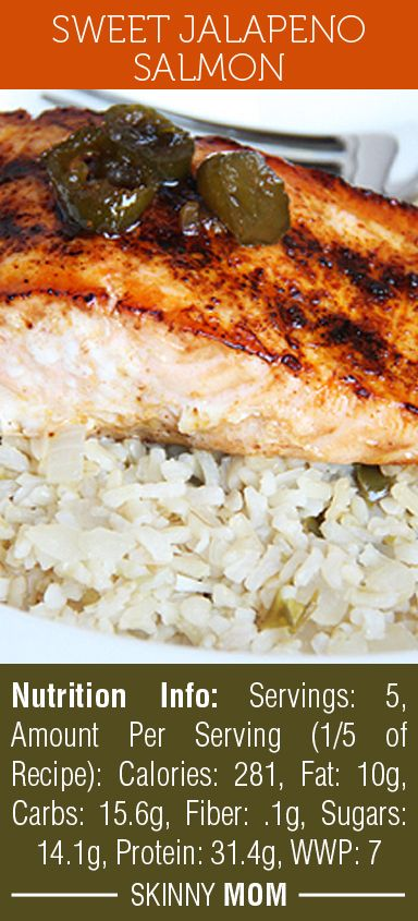 Sweet Jalapeno Salmon is such a DELICIOUS flavored fish! If you're nervous to make fish, this recipe is for you! Simple but so tasty! Only 280 calories per serving, you can't beat this recipe!