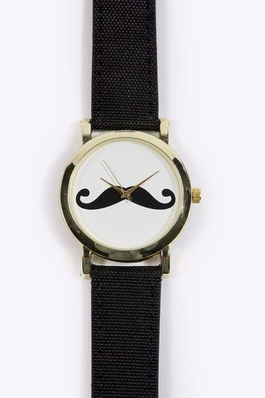 Movember Style | moustache watch | moustache fashion | moustache watch