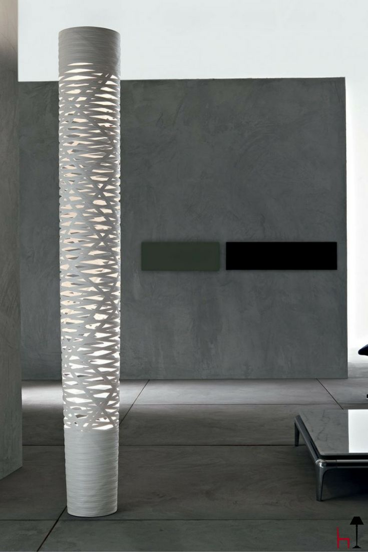 Tress by Foscarini is a floor lamp made of composite material on a lacquered fibreglass base.