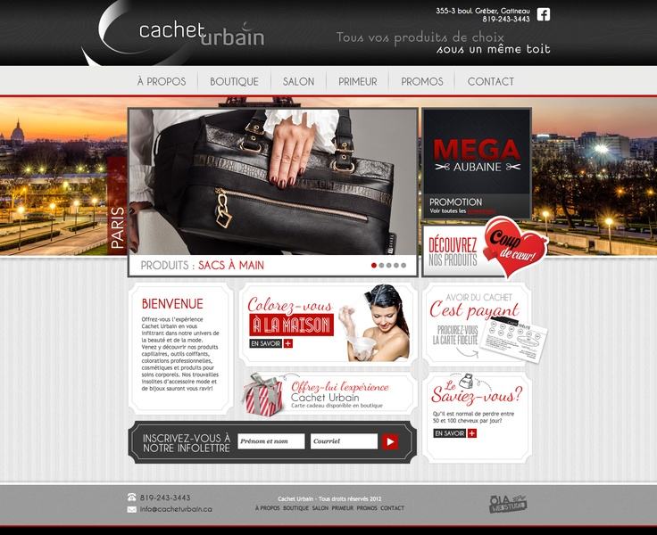Cachet Urbain - www.cacheturbain.com #webdesign #gatineau #ottawa #websitedesign