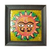Decorative Wall Pieces,Made In India,Copper Enamel Surya Wall Piece