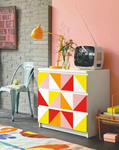 DIY decoupage chest of drawers