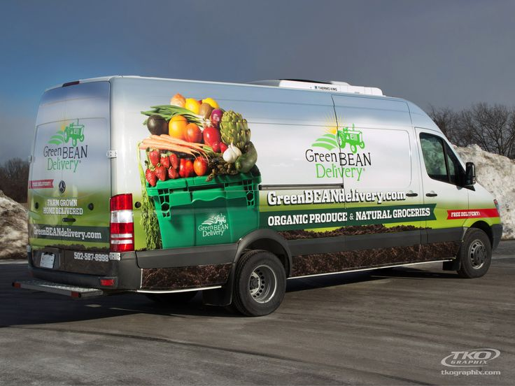 green bean delivery vehicle graphics and wrap indianapolis by tko graphix