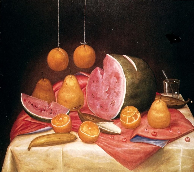 Fernando Botero. Still life with Watermelon (1932- ) Colombia