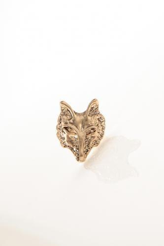 Vintage Textured Fox Ring