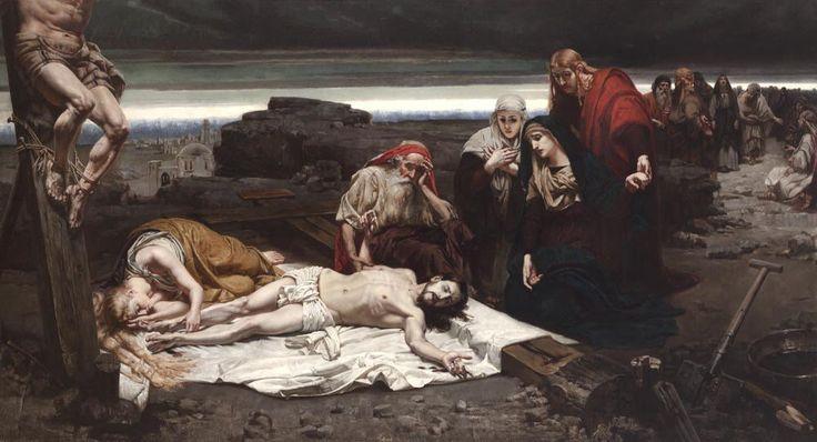 Józef Unierzyski  (1863-1948)     Zdjęcie z krzyża  1887