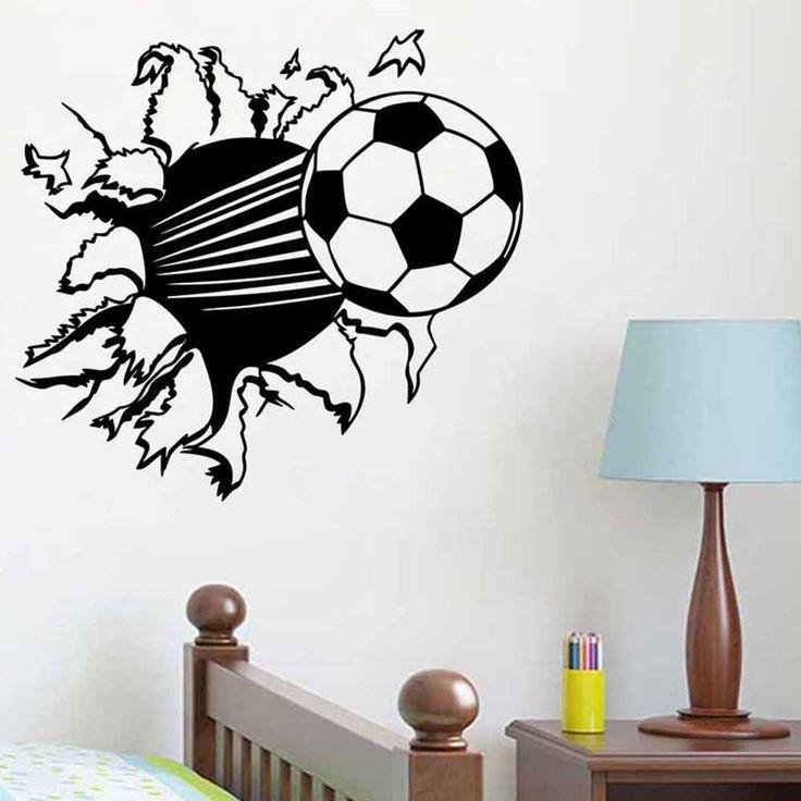 Details About Football Wall Sticker Decal Decor Sport Soccer Boy