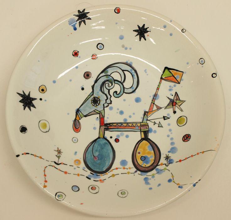 Vanessa Anastasopoulou, 'Bicycle' , 36X6cm platter