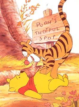 "I love Pooh Bear and Tigger!!!! But also pinning for the ""Pooh's Thotful Spot."" I need one of those. ;)"