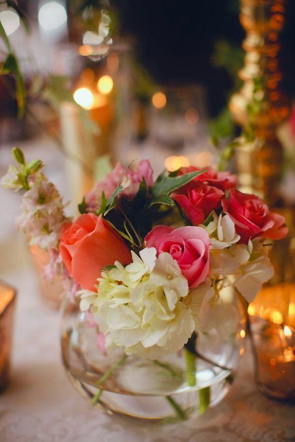 7 centros de mesa para bodas con peceras flowers centre for Centros de mesa con peceras