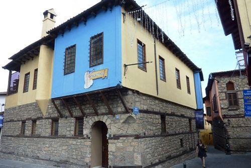 Macedonia, traditional macedonian architecture in the old town of Veria, Greece