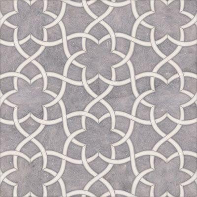 Talya Multi Finish 12 1/2x 14 3/8 Isidore Al D Marble Waterjet Mosaics