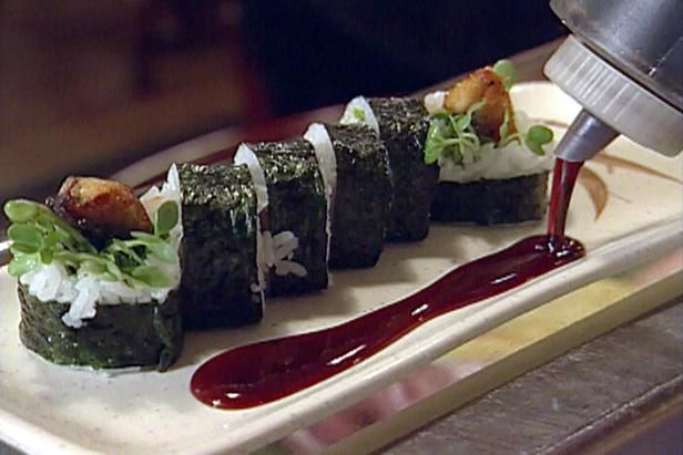 Get Unagi Roll (Broiled fresh water Eel) Recipe from Food Network