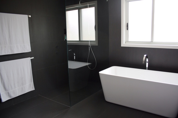 Dark charcoal bathroom for bathing pinterest for Charcoal bathroom accessories