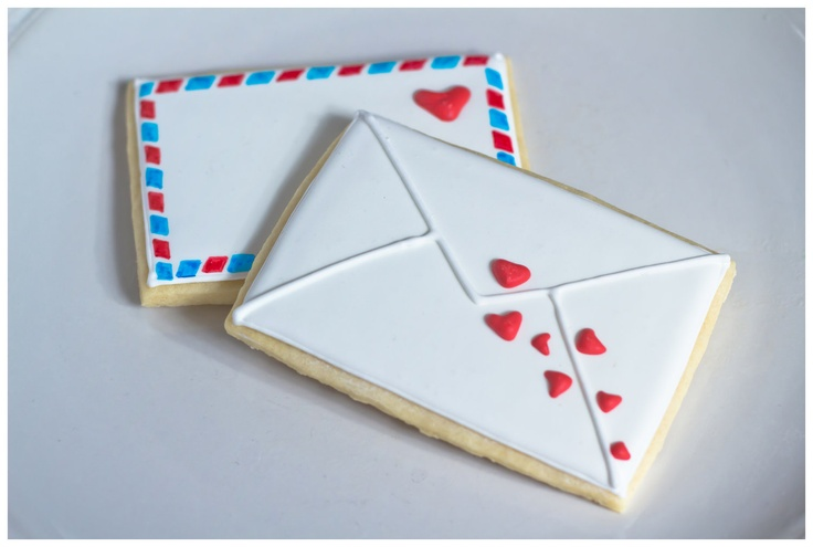 Valentine Love Letter Sugar Cookies by ShopMaddly on Etsy,   So pretty!!